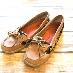 Sperry top sider cheetah print loafers size 8.5
